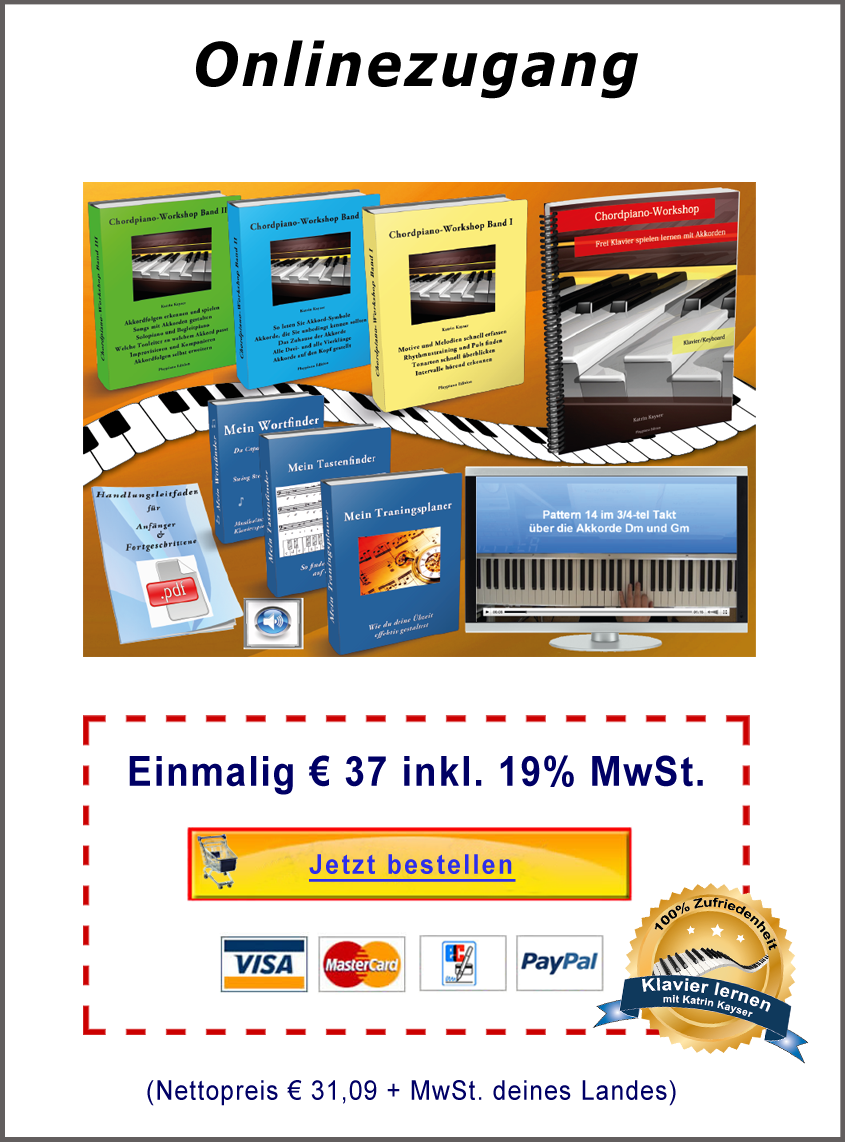 Chordpiano-Workshop eBooks + Boni bestellen im Onlinezugang